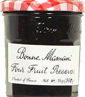Bonne Maman Preserves Four Fruits 13.0 OZ (Pack of 2)