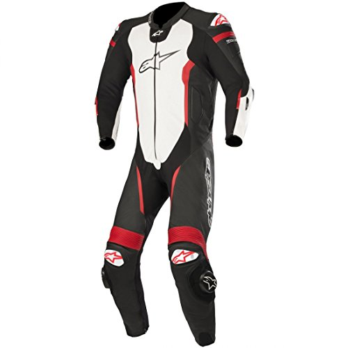 Alpinestars Missile Leather One-Piece Suit (Tech Air Compatible) (54) (Black/White/Red Fluo)