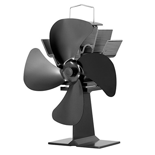 No Verve Required Heat Powered Stove Fan Eco Fan for Wood Stoves Gas Stoves Pellet Stoves