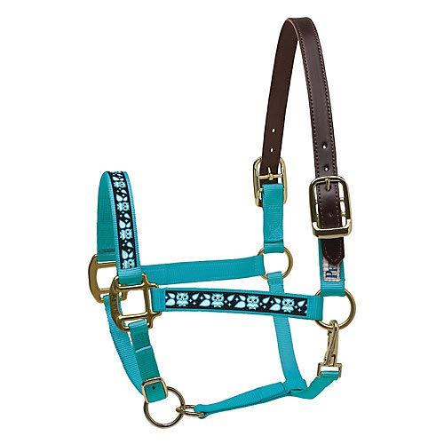 NEW HORSE TACK! PURPLE Nylon Neoprene Lined Horse Halter w// Glitter Overlay