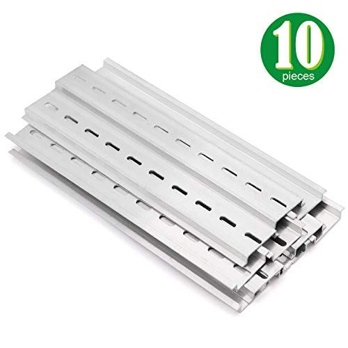 - 10 Pieces DIN Rail Slotted Aluminum RoHS 8