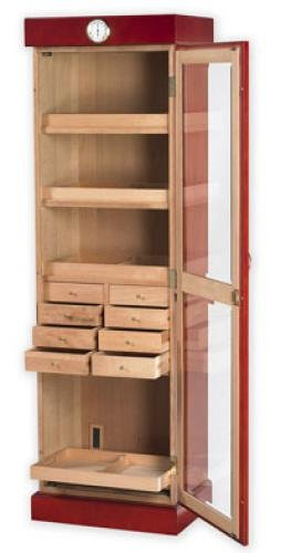 Quality Importers Trading Tower Humidor, Cherry