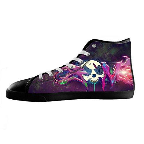 Custom Graffiti Mens Canvas shoes Schuhe Lace-up High-top Sneakers Segeltuchschuhe Leinwand-Schuh-Turnschuhe E