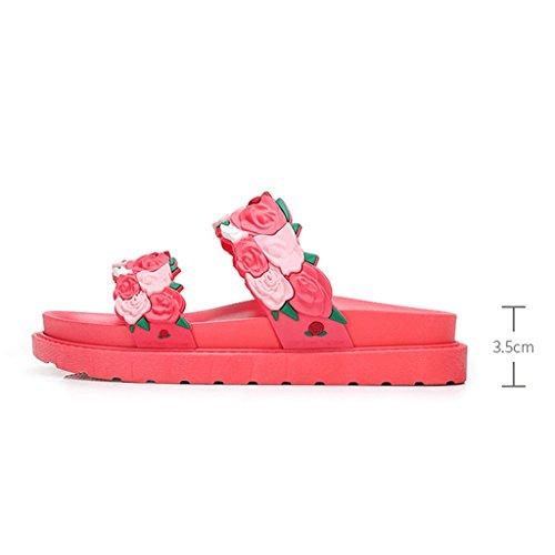 moda 5 Abbigliamento Black 4 Sandali Estate Colore Scarpe Pantofole dimensioni Pink sportive Donna TOPwqwI4
