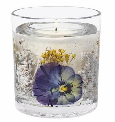 Stoneglow Pansy Botanics Natural Wax Tumbler Refillable Scented Jar Candle