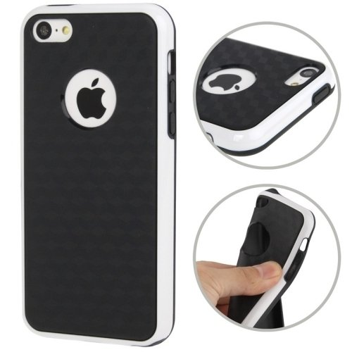 Mxnet Cube Pattern Anti-Rutsch-TPU Case mit Volume Button für iPhone 5 & 5s & SE & SE rutschsicher Telefon-Kasten ( SKU : S-IP5G-6904W )