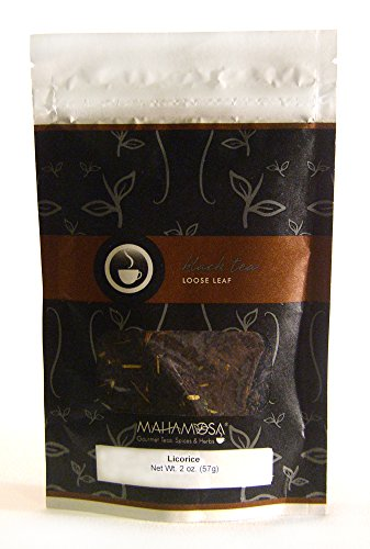 Mahamosa Flavored Black Tea Blend Loose Leaf (Looseleaf) - Licorice Tea (sambuca, licorice root) 2 oz