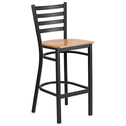 wood bar stools with backs - 6