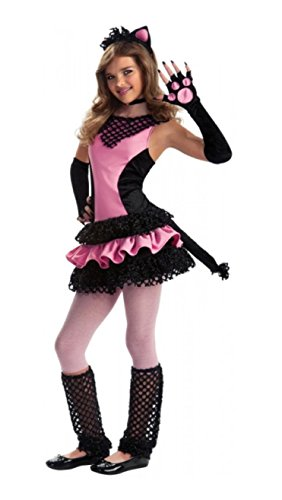 Pink and Black Kitty Cat Tween Costume (Medium)
