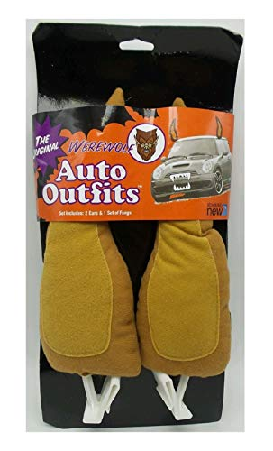 DEPT.8 The Original Auto Outfits - Car Halloween Costume Set (Werewolf Ears & Fangs)]()