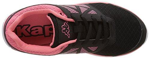 Kappa Fanger Pu - Zapatillas de deporte Mujer Negro - Noir (949 Black/Peach)