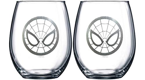 Marvel Collectible Wine Glass Set (Spider-Man)]()