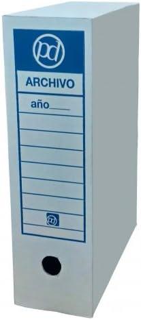 Caja archivo definitivo tamaño folio prolongado 385x275x105 mm (25 ...