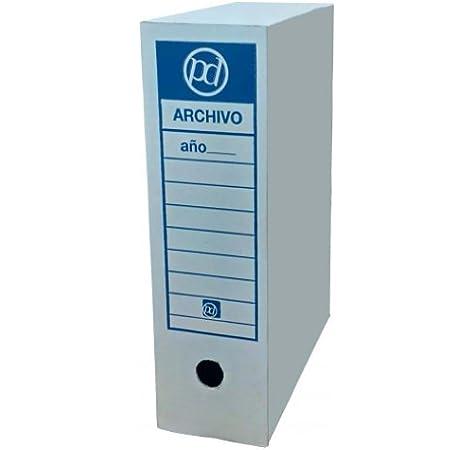 Caja archivo definitivo tamaño folio prolongado 385x275x105 mm (50 unidades): Amazon.es: Oficina y papelería