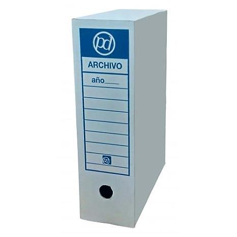 Caja archivo definitivo tamaño folio 350x255x100 mm (50 unidades): Amazon.es: Oficina y papelería