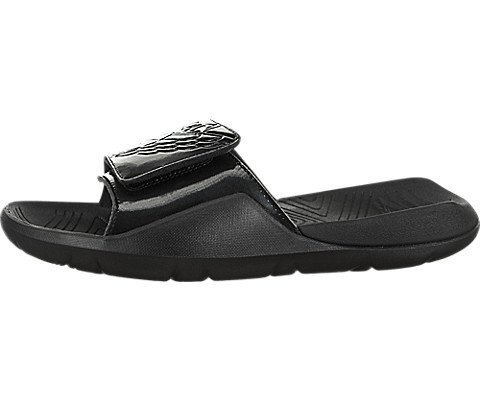 Jordan Nike Men's Hydro 7 Black/Black Sandal 12 Men US by Jordan
