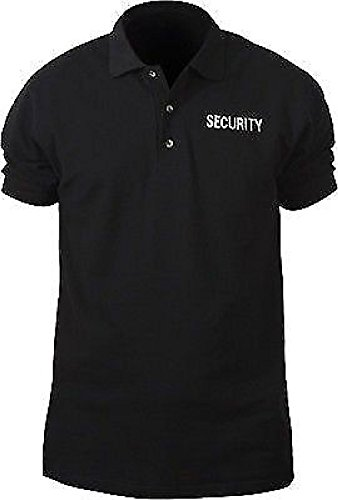 Black Double Sided Security Law Enforcement Polo Golf Shirt