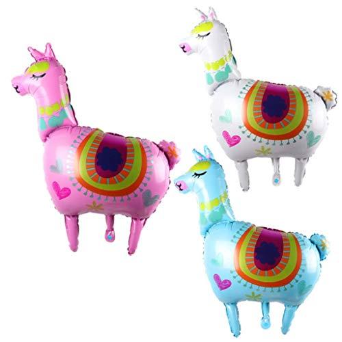 (Formemory 3Pcs Upgraded Llama Alpaca Foil Balloons, Animal Alpaca Balloon Celebration Children Birthday Party)