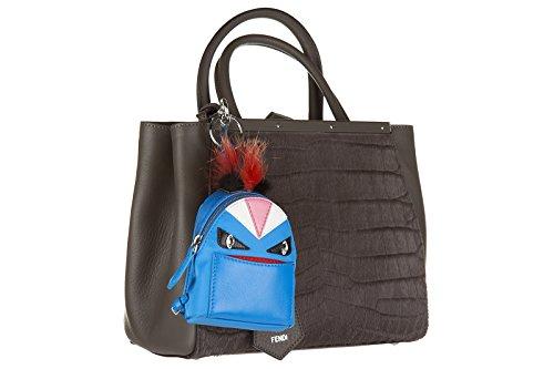 bugs da Fendi bag charm Fendi borsa donna ciondolo blu charm RI7S8Iwq