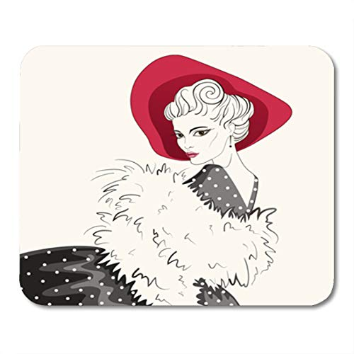 Semtomn Gaming Mouse Pad Attractive Woman in The