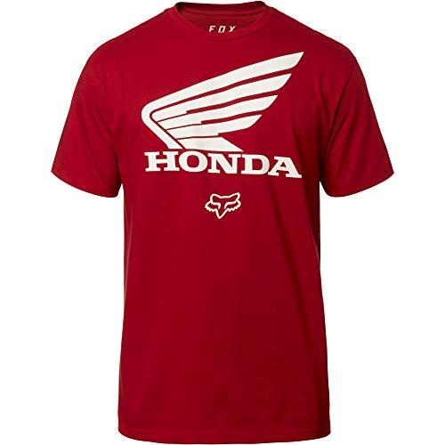 Fox Racing Casual Mens Clothing - Fox Racing Men's Honda Shirts,Medium,Cardinal