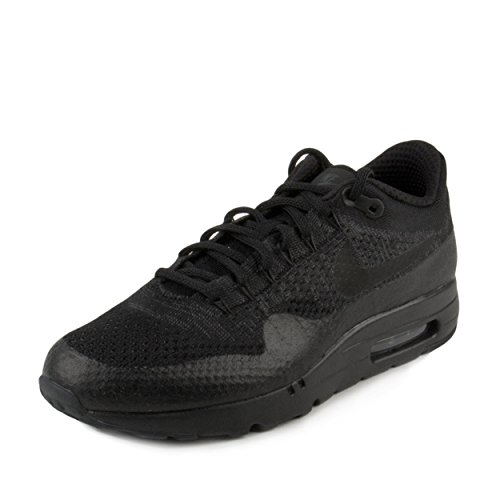 59a89b334ae Galleon - Nike Mens Air Max 1 Ultra Flyknit Triple Black Black Anthracite  Woven Size 11.5