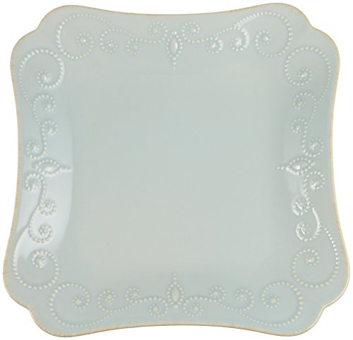 Blue Square Accent Plate (Lenox French Perle Square Dinner Plate, Ice Blue)