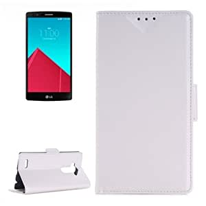 Oil Skin Texture Horizontal Flip Leather Case with Card Slots & Wallet & Holder for LG G4 (White)
