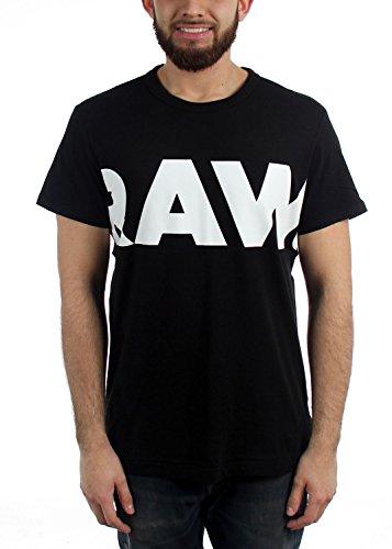 G-STAR Raw Vilsi T-Shirt Men | Dark Black/White (D08471-336-8746) (M)