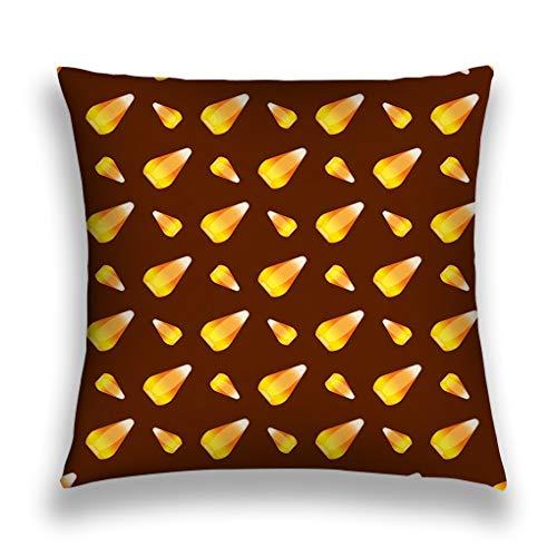 awydutsfdw Throw Pillow Cover Pillowcase Halloween Candy Corn Holiday Horror Wallpaper c Cartoon Spooky Autumn Decoration Vintage Sofa Home Decorative Cushion Case 18