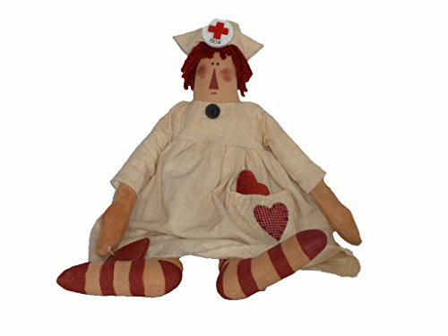 Primitive Raggedy Ann Doll (Craft Outlet Nurse Nightingale Doll, 16-Inch)