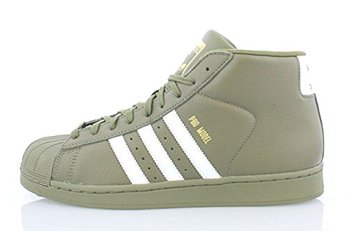 adidas Originals Pro Model Mens Shoes Olive/White/Gold ac7067 (12 D(M) - Adidas Army Shoes