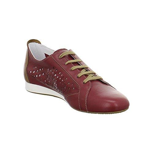 Mephisto Becky Desert Texas7942 - Zapatos de cordones de Piel para mujer Rojo