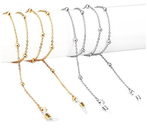 2-4 pieces Fashion Retro Glasses Chains for Women Beaded Eyeglass Holder Strap Lanyards Eyewear Retainer