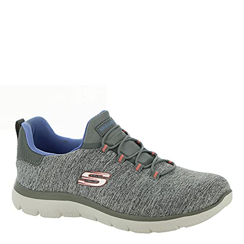 Skechers Women's, Summits - Quick Getaway Sneaker Grey Blue 10 M