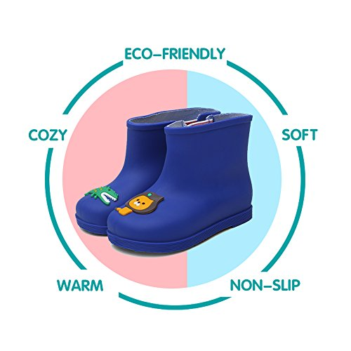 CIOR Little Kids Waterproof Animal Rain Boots Various Colors For Girls Boys Toddler Water Shoes,TYX03, Blue,26 - Image 6