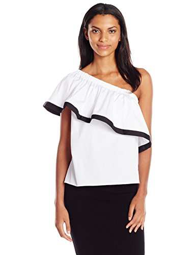 Milly-Womens-One-Shoulder-Top-White-S