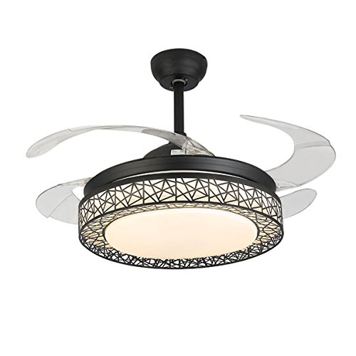 4 Transmission Piece (MOERUN 42 Inch Ceiling Fan Light with Remote Control Silent 3-color Dimming Fan Modern Chandelier Pendant Lighting fit for Bedroom Living Room Study Room (black))