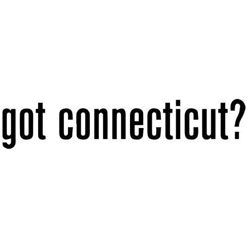 Set of 3 - Got Connecticut? Decal Sticker Color: Black- Peel and Stick Vinyl Sticker