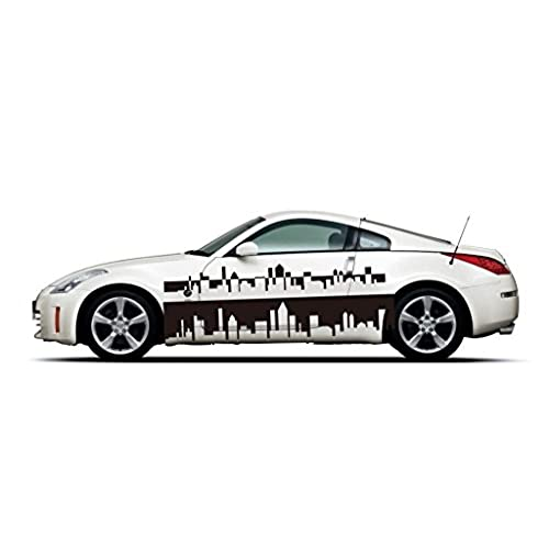 Picniva sty487 car body side stripes vinyl graphics sticker decals 2 pcs
