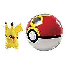 TOMY T18656 Pokémon Clip 'n' Carry Poké Ball, Pikachu & Repeat Ball