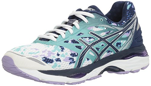 Pictures of ASICS Women's Gel-Cumulus 18 running Shoe Asics Blue/Silver/Safety Yellow 1