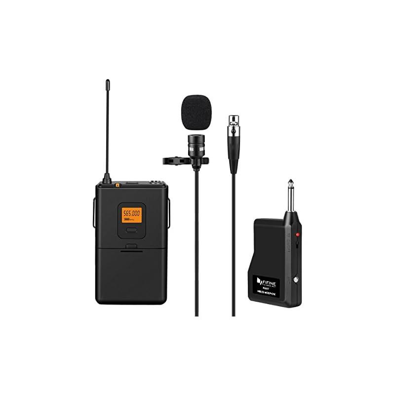 fifine-20-channel-uhf-wireless-lavalier