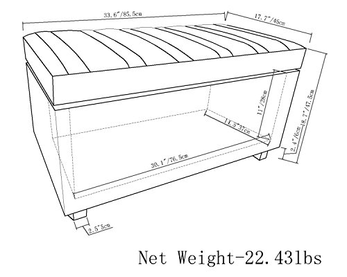 Simpli Home Ottoman Bench,