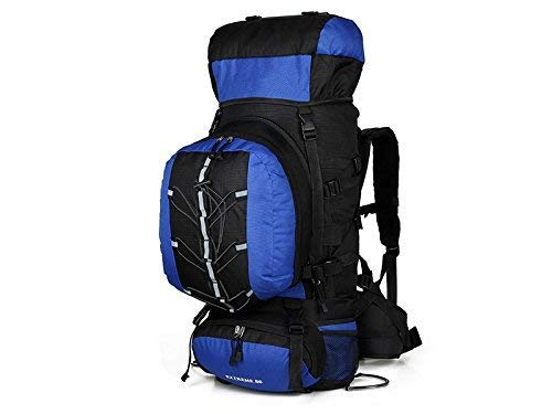 Mountaineering Bag Outdoor and Indoor Large Capacity Hiking Climbing Bag 80L Outdoor Mountaineering Backpack(Blue)