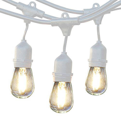 Construction Site String Lights: Brightech Ambience Pro LED Commercial Grade Outdoor String