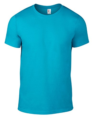 Anvil Men's Lightweight Tee, Caribbean Blue, Small