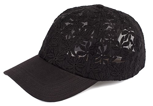 Funky Junque H-6053-06 Sheer Daisy Floral Print Baseball Cap - (Funky Daisy)