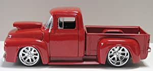 1956 Ford F-100 Pickup Truck 1:24 Scale with Engine Blower (Black)
