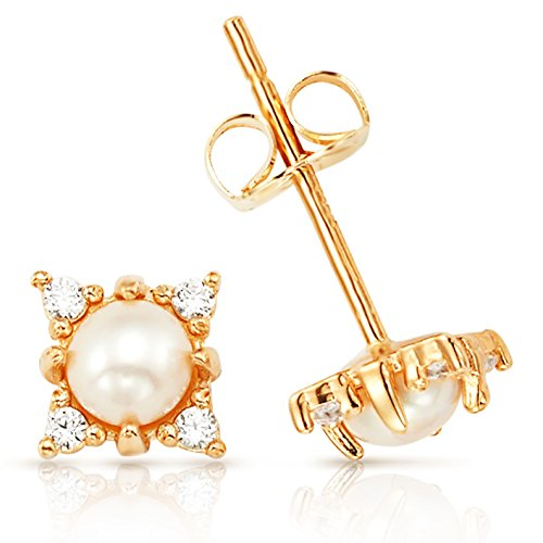14k Gold 3mm Pearl - 7